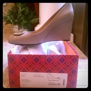 COPY - Brand New Taupe Wedge Heels Size 10.5